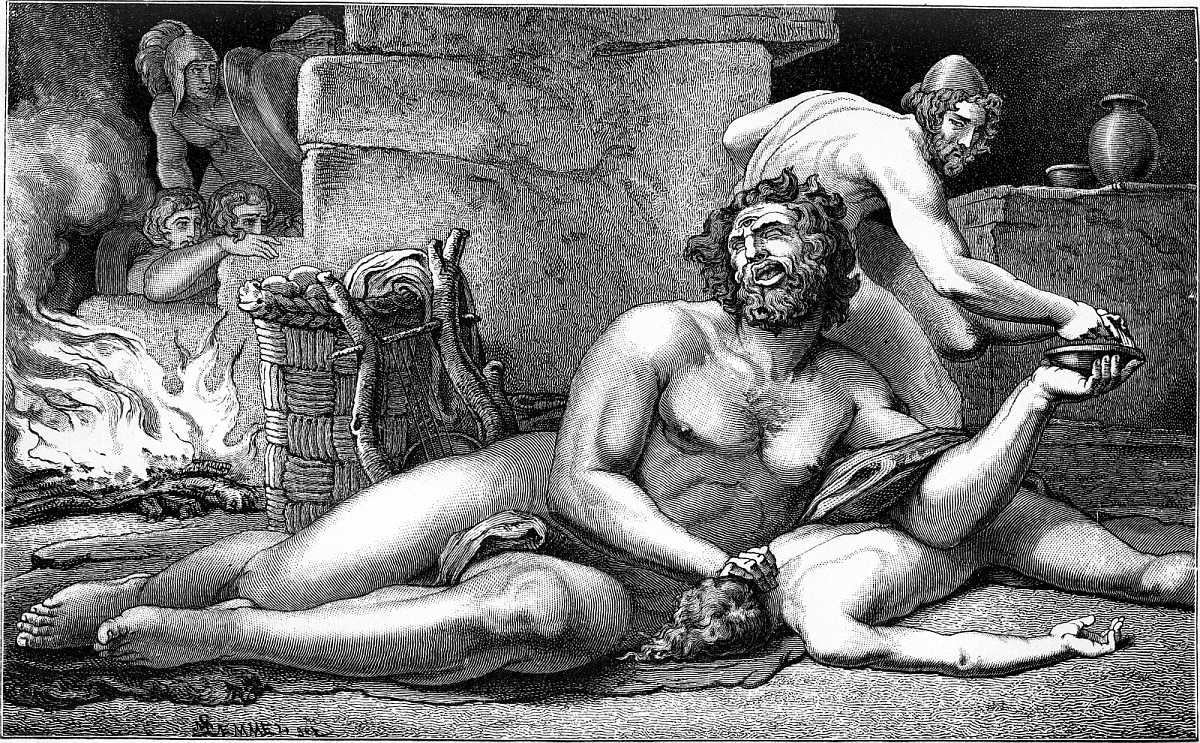 a comparison of the character of polyphemus in the greek mythology and the odyssey by homer